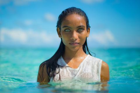 Maldivian Girl Eyes